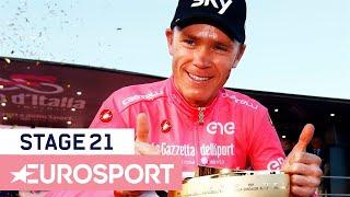 Samenvatting etappe 21: Zo won Chris Froome de Giro d'Italia 2018