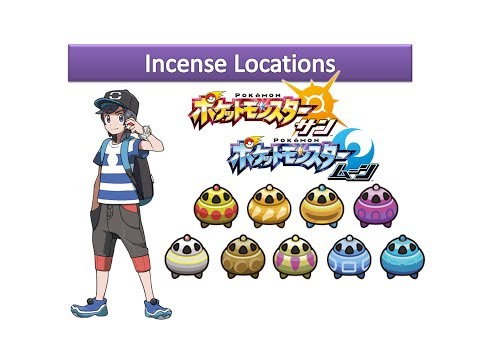 Pokemon Sun And Moon - Incense Locations