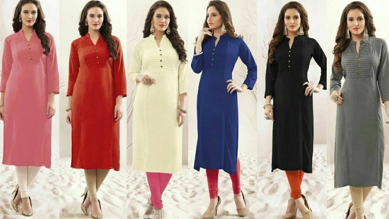 fd9afb622 Latest Top 12 Latest Office wear Designer,Trendy,Kurtis for Women's & Girls|Office  Wear|Trendy India