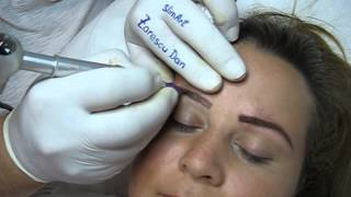 Tatuaj sprancene make up artist Zarescu Dan Clinica Slimart micropigmentare sprance