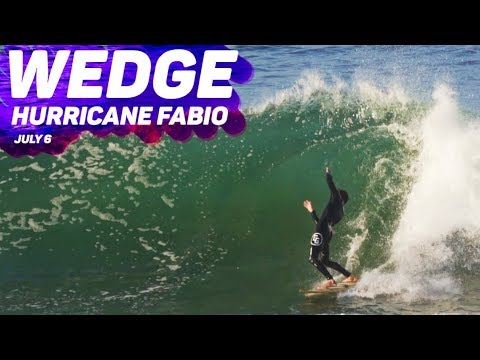 HURRICANE FABIO comes to the WEDGE - Barrels and Broken Boards