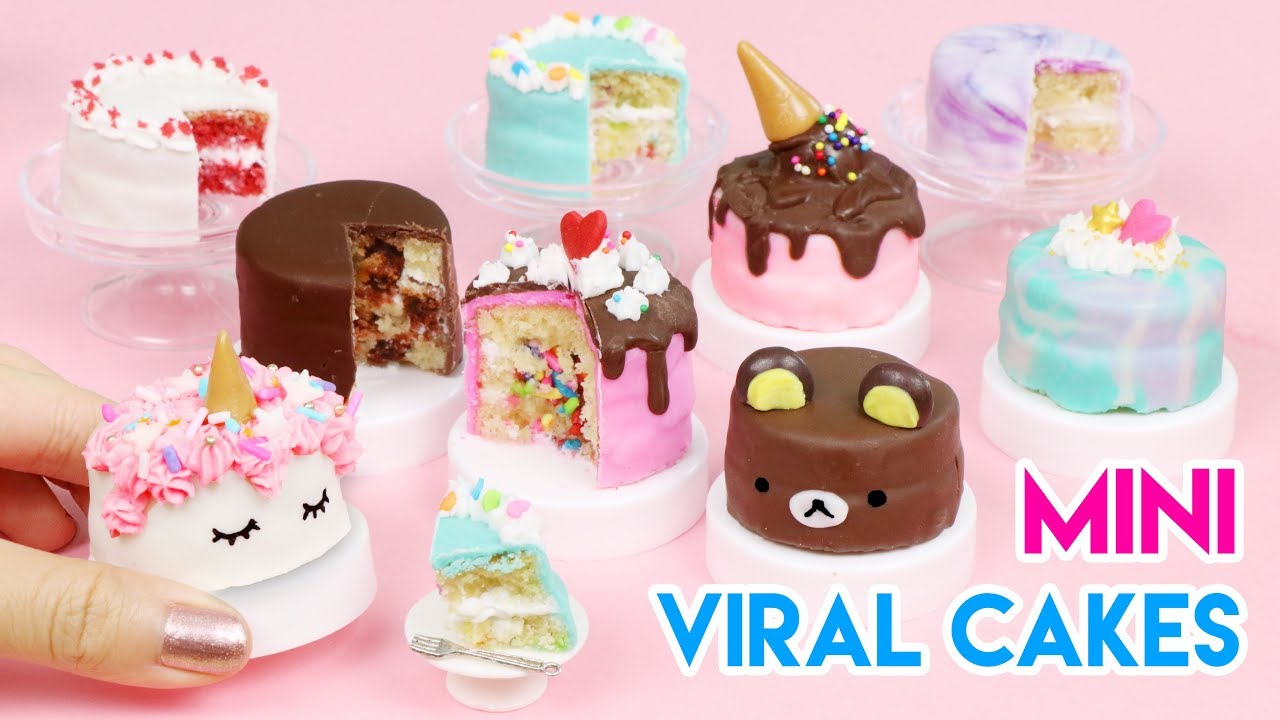 How To Make Mini Cakes Popularviral Edition 100 Edible Youtube