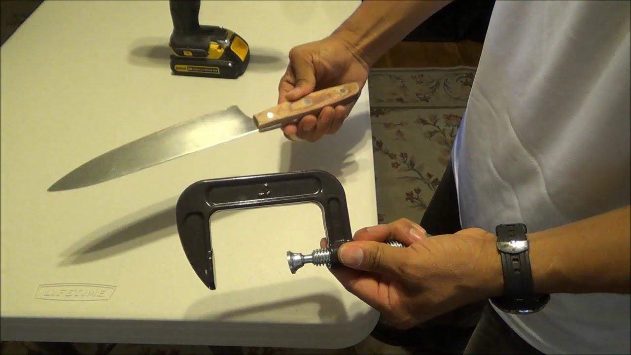 Como afilar un cuchillo con un taladro rapido y facil for Como pulir un cuchillo