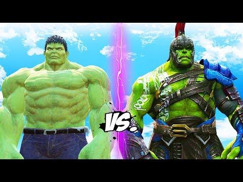 INCREDIBLE HULK vs GLADIATOR HULK (Thor Ragnarok)