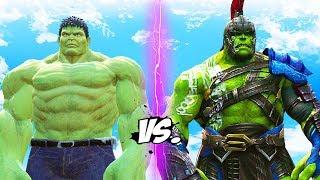 INCREDIBLE HULK vs GLADIATOR HULK (Thor Ragnarok) streaming