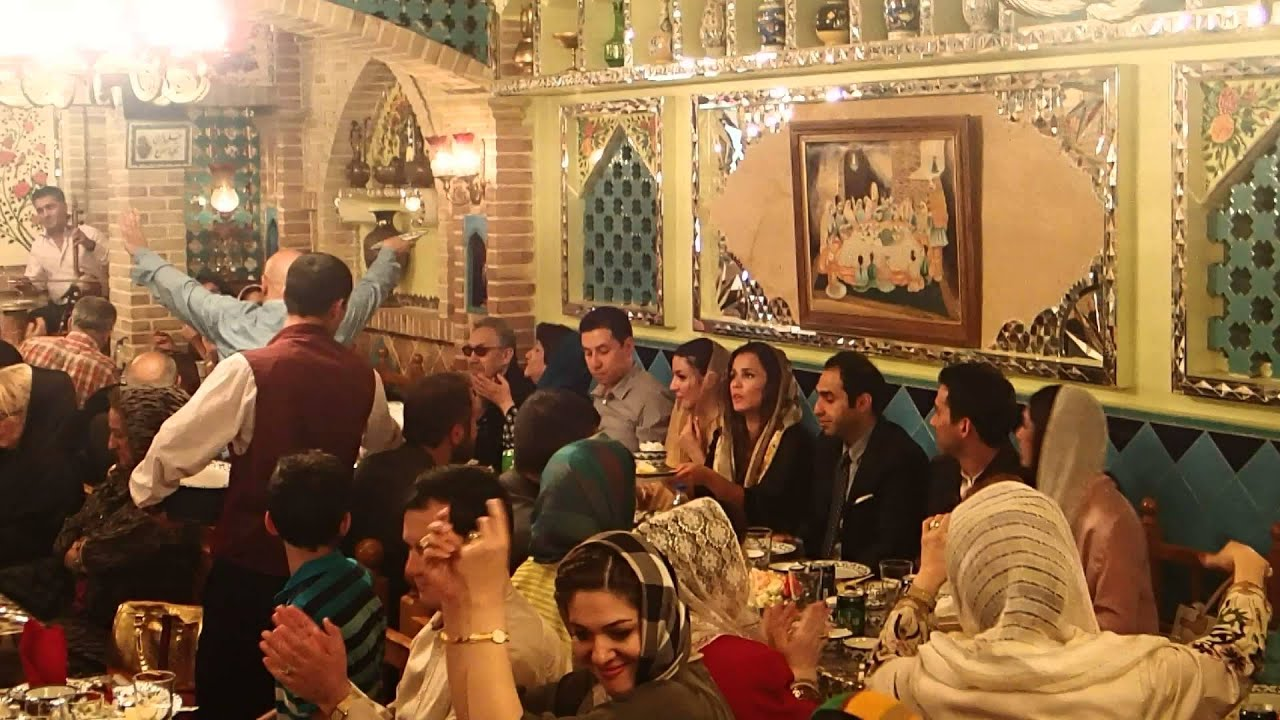 Iran 2014 barbod restaurant youtube for Divan restaurant tehran