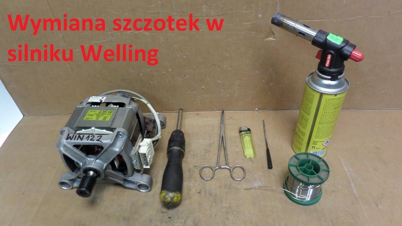 Modish Pralka Indesit wymiana szczotek w silniku Welling , SERWIS AGD KC71