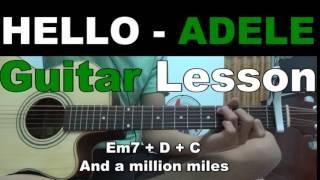 Hướng dẫn HELLO - ADELE guitar