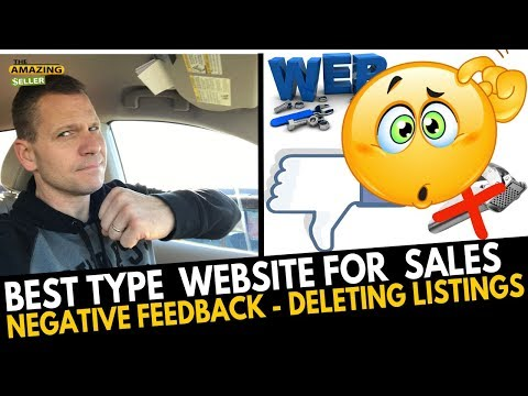 BEST Website Type for Sales – Negative Feedback – Deleting Product Listings