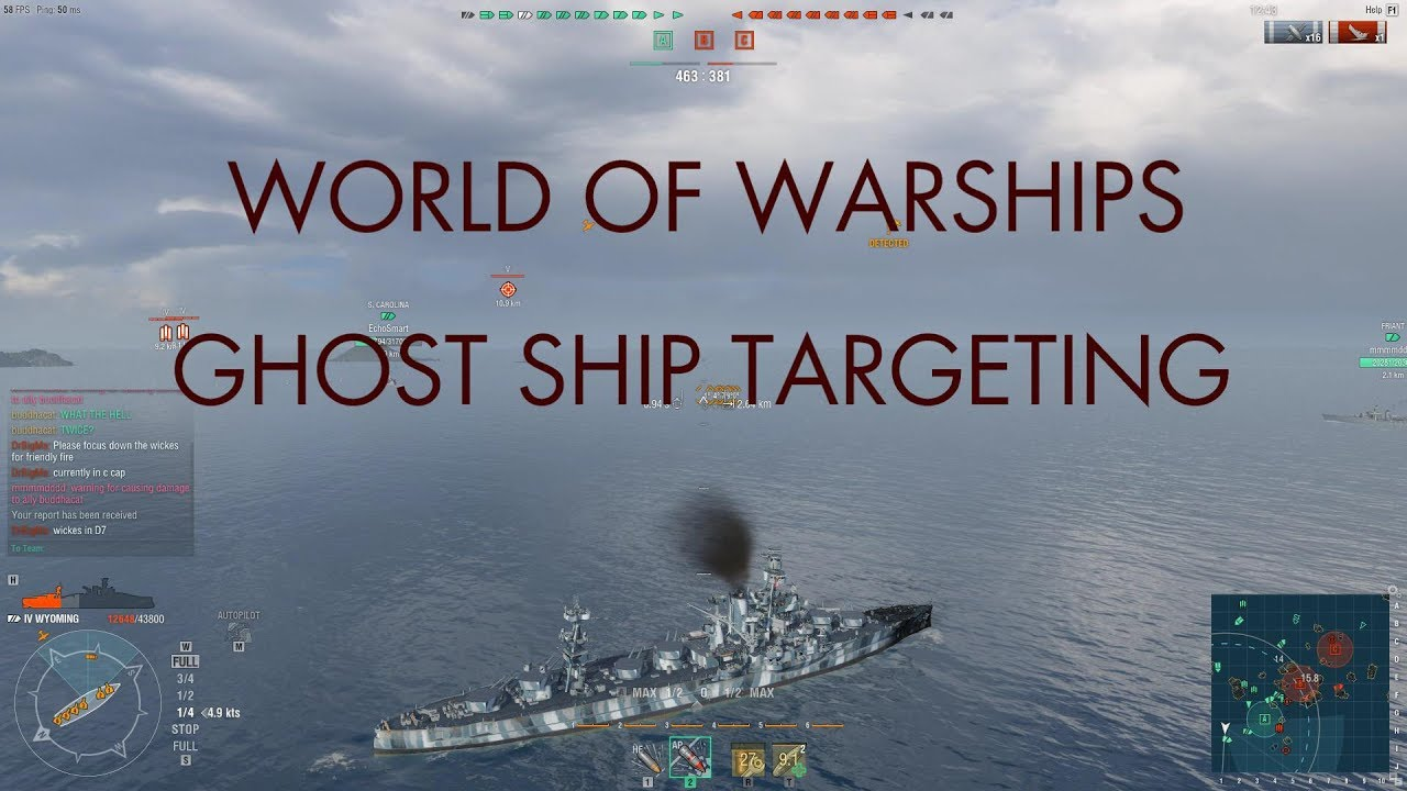 World of Warships Aiming Method -- Ghost Ship Targeting