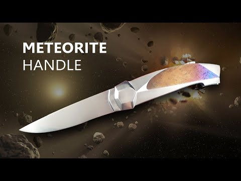 An Art Knife made with Meteorite ! (From Gibeon) - By the Italian Master Marcello Garau