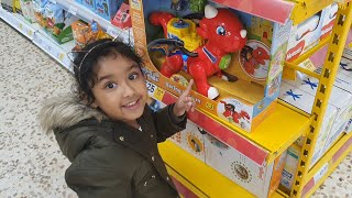 Ishfi's Visit to Toy Store decorated for Christmas