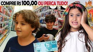 DESAFIO DA PAPELARIA GASTE R$ 100,00 EM MATERIAL ESCOLAR OU PERCA TUDO! Ft Pedro Maia
