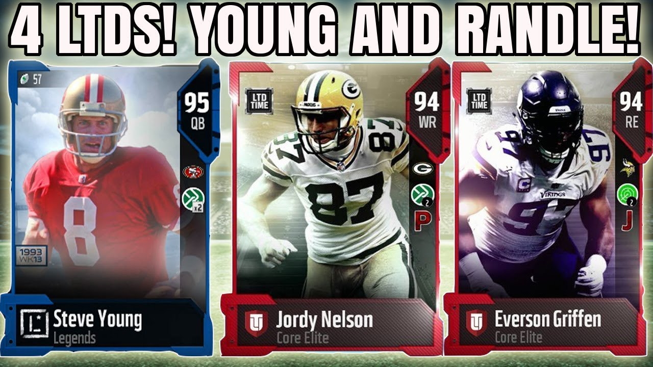 4 LTD SATURDAY NIGHT CARDS! LEGENDS STEVE YOUNG AND JOHN RANDLE! | MADDEN  18 ULTIMATE TEAM
