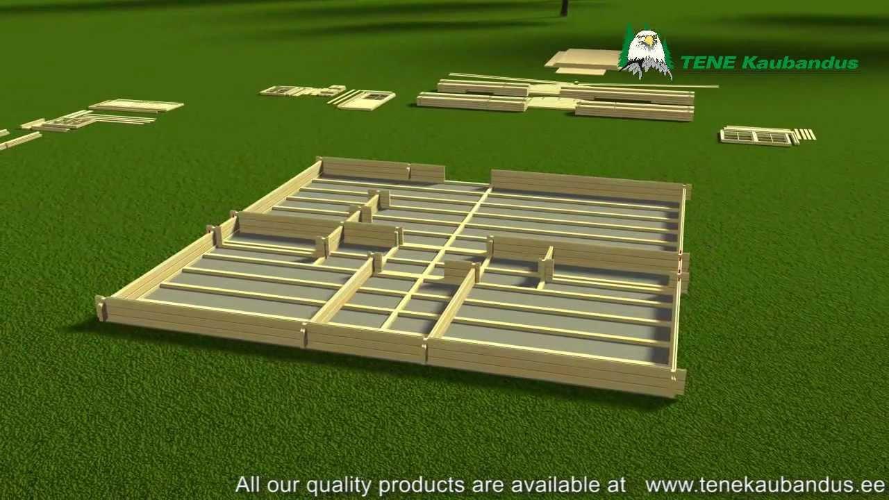 Proceso montaje de una casa de madera grupotene tene - Casa de madera ...