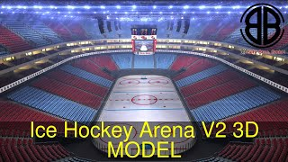 3D Model of Ice Hockey Arena V2 Review