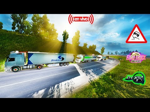 Euro Truck Simulator 2 Multiplayer--Multiplayer Convoy camion VOLVO [1.27] HD