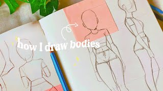 How I draw boḋies 💓