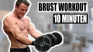 10 Minuten Brust Workout für Zuhause | Kombinationsworkout für Qualitätsmuskulatur - Sascha Huber