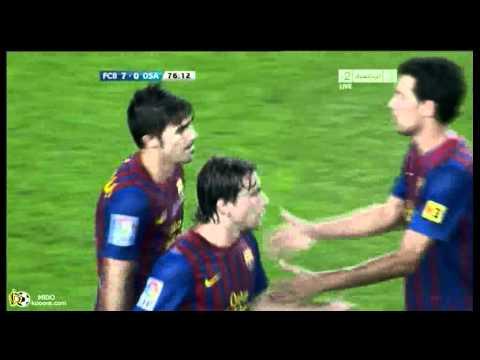 FC Barcelona VS Osasuna 7-0 All goals&highlights 17/9/2011