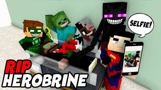 Monster School : RIP Herobrine (Justice League Crafting) - Minecraft Animation