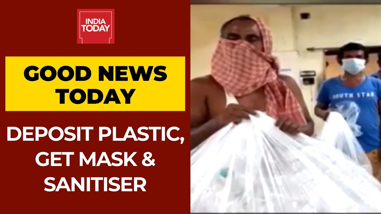 Deposit Plastic Waste And Get 2 Masks, 1 Litre Of Sanitizer From This Bank | Good News Today