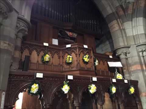 Calon Lan played on the old Father Willis organ with the Cymric Male Choir