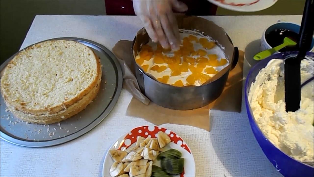 Как приготовить фруктовой торт рецепт
