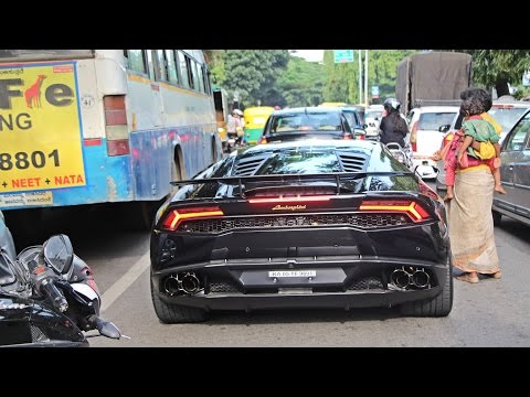 SUPERCARS IN INDIA (BANGALORE) JULY 2016