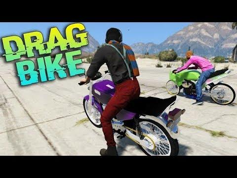 GTA 5 DRAG RX KING vs Ninja Drag bike, mio,fu,ninja,rx king