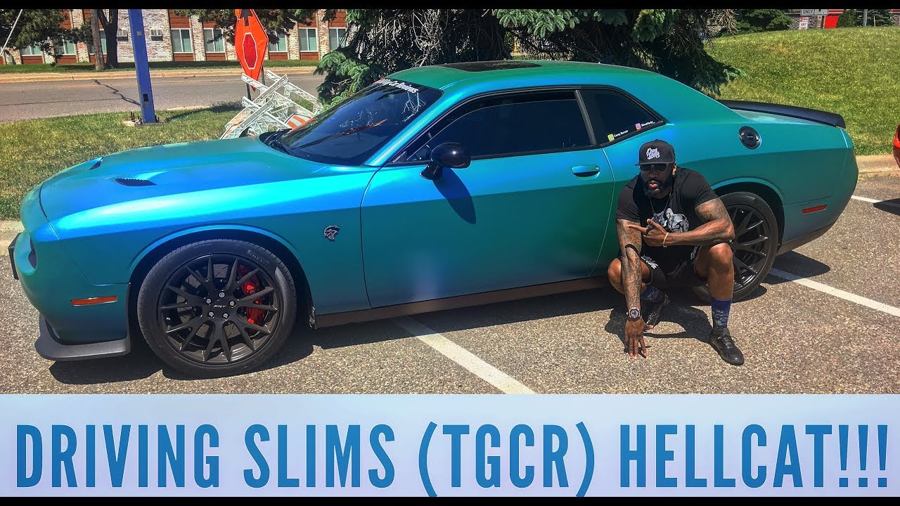 Organik Vlog: Driving (Slimu0027s) Tall Guy Car Reviews HELLCAT!!