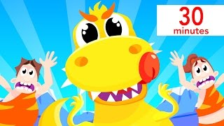 Baby T-Rex and the Dinosaur Dance, Baby Shark, Finger Family, and more! | Kids Songs Compilation