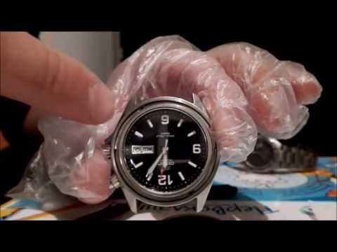 установка сапфира в Orient Mako (sapphire glass for orient mako)
