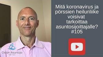 Mitä koronavirus ja pörssien heiluriliike voisivat tarkoittaa asuntosijoittajalle? #105 (2020)