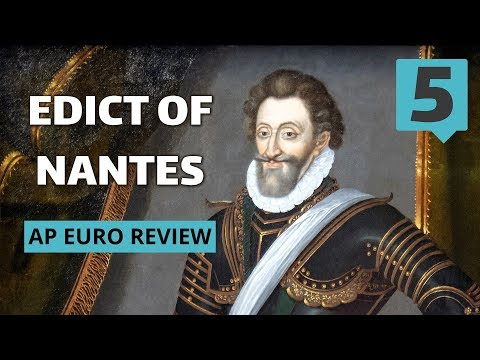 The Edict of Nantes (AP Euro Review with Tom Richey)