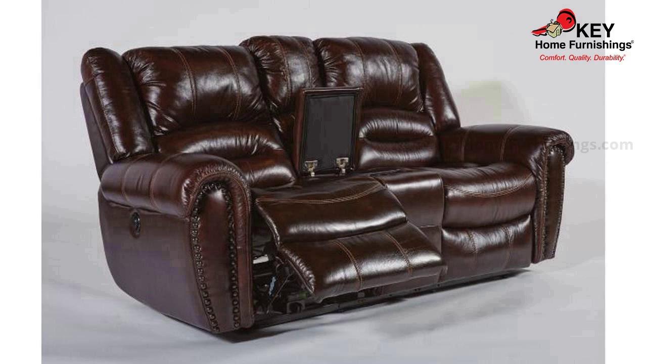 Flexsteel Crosstown Leather Reclining Loveseat 1210 60 Key Home