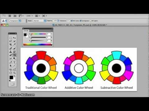 Josephine's Tutorial W2A1 Mixing Color Wheels in Photoshop