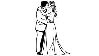 How to Draw a Wedding Kiss / Как нарисовать Свадебный поцелуй