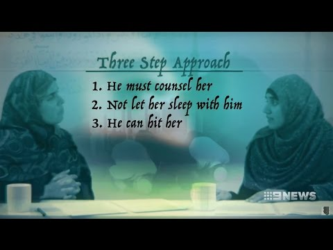 Nine News. Female Supremacist React. (Muslims Chastising Wives)