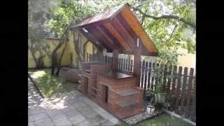 Budowa altany ogrodowej i grilla z zadaszeniem.