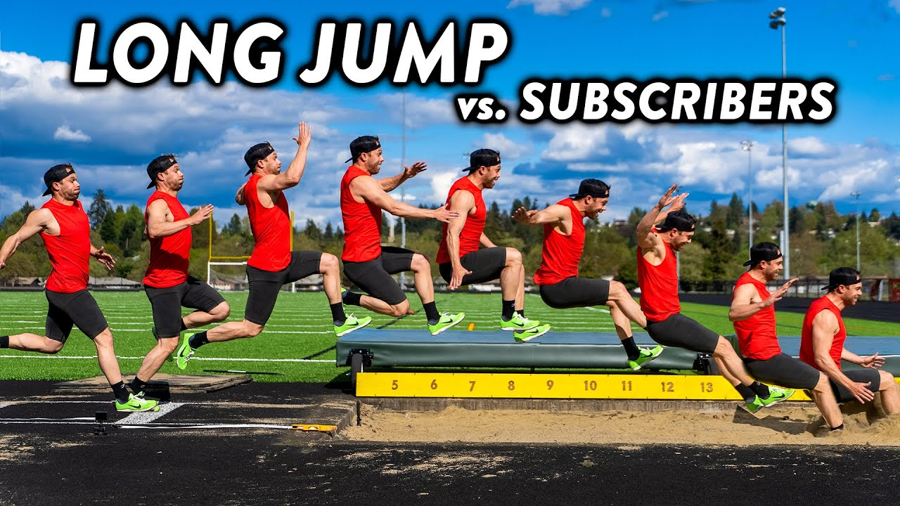 UNBELIEVABLE Long Jump vs Subscribers! #NSTC