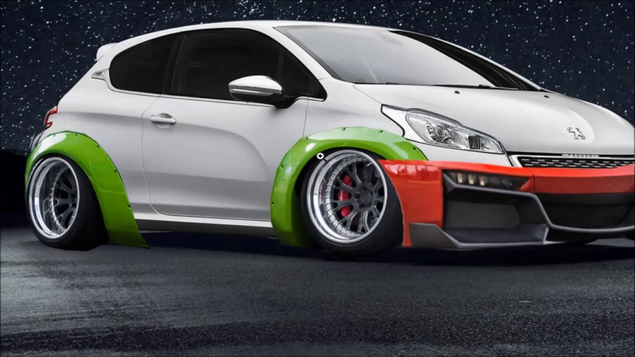 virtual tuning peugeot 208 gti photoshop youtube. Black Bedroom Furniture Sets. Home Design Ideas