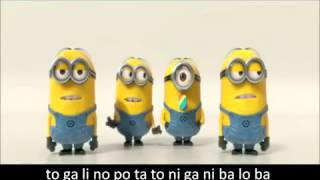 Minions Banana and Potato Song with Subtitled Lyrics   Despicable Me 2 Trailer