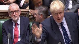 Boris Johnson SHUTS down Jeremy Corbyn and defends Queen's speech