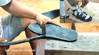 Making shoes from rubber waste
