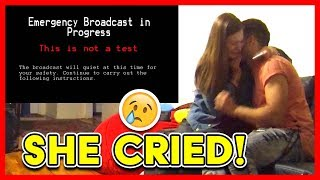 END OF THE WORLD ALIEN INVASION PRANK ON GIRLFIREND (She Cried!)