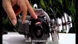 the mini moto engine - parts of a minimoto and how a minimoto works
