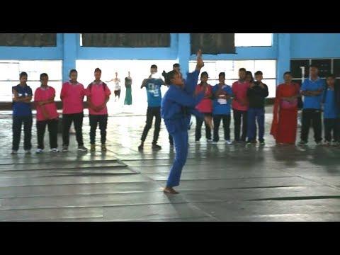 Vovinam woman individual demonstration by Manipuri woman vovinam player