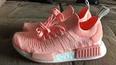 7037a59d4 NMD R1 Primeknit Shoes Pink AQ1104 video - YouTube