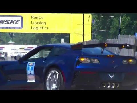 General Motors Executive Vice President Mark Reuss crashes Corvette at Detroit Grand Prix